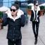 CW5909009 เสื้อโค้ทผู้หญิงหวานเกาหลี มีอฮูดกระดุมหน้า(พรีออเดอร์) รอ 3 อาทิตย์หลังโอนเงิน thumbnail 1
