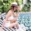 [Size S,M] Daisy set (สีขาว) ชุดว่ายน้ำ ทูพีทแนววินเทจ thumbnail 3