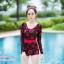 [Free size] ชุดว่ายน้ำวันพีชแขนยาว รุ่น Kanya สีดำลายดอกกุหลาบ thumbnail 1
