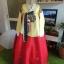 Princess Hanbok แบบชาววัง (ทังอี) สีเหลืองทอง ตัดแดง สวยอลังการ thumbnail 1