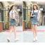 BW6005006 เอี้ยมชุดกระโปรงยีนส์สั้นทรงดินสดสาวเกาหลี (พรีออเดอร์) รอ 3 อาทิตย์หลังโอนเงิน thumbnail 5