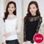 RP5911002 เสื้อลูกไม้เกาหลีสวยหวาน คอเต่าแขนยาว (พรีออเดอร์) thumbnail 1