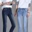 JW6006001 กางเกงยีนส์ขายาวเดปเข้ารูปสีน้ำเงินเข้มสาวเกาหลี (พร้อมส่ง) thumbnail 3