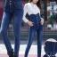 JW6012002 กางเกงยีนส์ กางเกงยีนส์เอวสูง กางเกงยีนส์ขาเดฟกางเกงยีนส์เกาหลี thumbnail 4