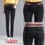 JW6101003 กางเกงยีนส์เอวสูงฮาเล็มเอวยางยืดแฟชั่นสาวเกาหลีสีดำ thumbnail 2