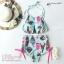 (Size S,M) ชุดว่ายน้ำทูพีช ผูกหลักผูกคอ บราลายไอศครีมพื้นเขียว กางเกงเอวสูงมีเชือกถักด้านข้าง thumbnail 2