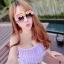 (Size S,M) ชุดว่ายน้ำทูพีช สีม่วงอ่อน ระบายริ้วทั้งชิ้น กางเกงเอวสูง ระบายริ้วทั้งชิ้น thumbnail 4