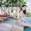 [Free size] ชุดว่ายน้ำทูพีชบราเปิดไหล่ รุ่น Laila ลายหินอ่อน สีขาว thumbnail 3