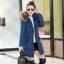CW5909023 เสื้อโค้ทผู้หญิงหวานเกาหลีตัวยาวแต่งเฟอร์ขน(พรีออเดอร์) รอ 3 อาทิตย์หลังโอนเงิน thumbnail 4