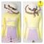 [Size S,M] Birkin ชุดว่ายน้ำแขนยาว แนว Sport สีเหลือง thumbnail 3