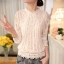 RP5911048 เสื้อลูกไม้เกาหลีสวยหวาน คอสูงแขนยาวฤดูใบไม้ร่วงและฤดูหนาว(พรีออเดอร์) thumbnail 5