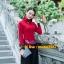 UM6102016 เสื้อยืดแขนยาวโมฮีเมียนสีดำและแดง เย็บปักถักร้อยชาติพันธุ์ thumbnail 3