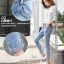 JW5909004 กางเกงยีนส์แฟชั่นเกาหลี ขายาวฮาเร็มของนักเรียน (พรีออเดอร์) รอ 3 อาทิตย์หลังโอนเงิน thumbnail 2