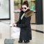 CW5909023 เสื้อโค้ทผู้หญิงหวานเกาหลีตัวยาวแต่งเฟอร์ขน(พรีออเดอร์) รอ 3 อาทิตย์หลังโอนเงิน thumbnail 3