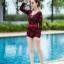 [Free size] ชุดว่ายน้ำวันพีชแขนยาว รุ่น Kanya สีดำลายดอกกุหลาบ thumbnail 3