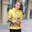 CW5909022 เสื้อโค้ทผู้หญิงเกาหลีตัวสั้นพิมพ์ลายเสื้อแจ๊กเก็ต(พรีออเดอร์) รอ 3 อาทิตย์หลังโอนเงิน สำเนา thumbnail 1