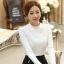 RP5911046 เสื้อลูกไม้เกาหลีสวยหวาน คอสูงแขนยาวฤดูใบไม้ร่วงและฤดูหนาว (พรีออเดอร์) thumbnail 4
