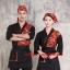 F6101010 ชุดผ้าฝ้ายซูชิกิโมโนสไตร์ญี่ปุ่น สำหรับห้องอาหารญี่ปุ่นเกาหลี เสื้อพนักงานต้อนรับ thumbnail 1