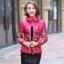 CW5909022 เสื้อโค้ทผู้หญิงเกาหลีตัวสั้นพิมพ์ลายเสื้อแจ๊กเก็ต(พรีออเดอร์) รอ 3 อาทิตย์หลังโอนเงิน สำเนา thumbnail 5