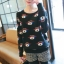QW5709008 เสื้อกันหนาว ไหมพรมลายวินเทจ กระดุมหน้า วินเทจ แฟชั่นเกาหลี (พรีออเดอร์) รอ 3 อาทิตย์หลังโอนเงิน thumbnail 3