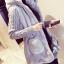 KW6011001 เสื้อกันหนาวผู้หญิงที่คลุมด้วยผ้าตัวยาวสีเทา (พรีออเดอร์) รอ 3 อาทิตย์หลังโอนเงิน thumbnail 4