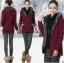 KW5711004 เสื้อกันหนาวสาวเกาหลี คอปก มีฮูด แต่งซิปหน้า thumbnail 1