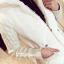 KW6011001 เสื้อกันหนาวผู้หญิงที่คลุมด้วยผ้าตัวยาวสีเทา (พรีออเดอร์) รอ 3 อาทิตย์หลังโอนเงิน thumbnail 3