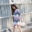 ๋QW6008002 เสื้อไหมถักญี่ปุ่นลายเรขาคณิตสวมหัวคอกลม (พรีออเดอร์) รอ 3 อาทิตย์หลังโอน thumbnail 3