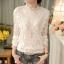 RP5911049 เสื้อลูกไม้เกาหลีสวยหวาน คอสูงแขนยาวฤดูใบไม้ร่วงและฤดูหนาว(พรีออเดอร์) thumbnail 3