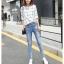 JW5909004 กางเกงยีนส์แฟชั่นเกาหลี ขายาวฮาเร็มของนักเรียน (พรีออเดอร์) รอ 3 อาทิตย์หลังโอนเงิน thumbnail 4