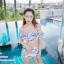 [Free size] ชุดว่ายน้ำทูพีชบราเปิดไหล่ รุ่น Laila ลายหินอ่อน สีขาว thumbnail 11
