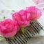 Flower Hair Accessories หวีสับรูปกุหลาบสีชมพูเข้ม ใส่คู่กิโมโนตัวเก่ง thumbnail 2