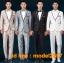 JM6102003 ชุดเสื้อสูทผู้ชายงานแต่งงานเจ้าบ่าว ชุดสูทงานเลี้ยงชุดสูทไนต์คลับ thumbnail 1