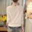 RP5911050 เสื้อลูกไม้เกาหลีสวยหวาน คอวีแขนยาวฤดูใบไม้ร่วงและฤดูหนาว(พรีออเดอร์) thumbnail 4