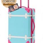 กระเป๋าเดินทางวินเทจ รุ่น colorful ฟ้าคาดชมพู ขนาด 18 นิ้ว