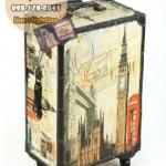 กระเป๋าเดินทางวินเทจ รุ่น vintage classic ลายเมืองลอนดอน ขนาด 24 นิ้ว