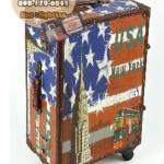 กระเป๋าเดินทางวินเทจ รุ่น vintage classic ลายเมืองนิวยอร์ก ขนาด 24 นิ้ว