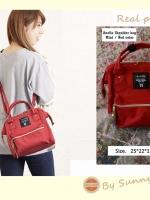 Anello shoulder bag size mini รุ่นสี่เหลี่ยมจัตุรัส สีแดง พร้อมส่ง