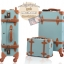 กระเป๋าเดินทางล้อลากวินเทจ รุ่น vintage retro สี Blue เซ็ตคู่ ขนาด 12+24 นิ้ว thumbnail 18
