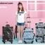 กระเป๋าเดินทางวินเทจ รุ่น เรโทรยีนส์ สีฟ้าเขียว ไซต์ 22 นิ้ว thumbnail 6