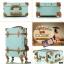 กระเป๋าเดินทางล้อลากวินเทจ รุ่น vintage retro สี Blue เซ็ตคู่ ขนาด 12+24 นิ้ว thumbnail 10