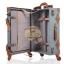 กระเป๋าเดินทางล้อลากวินเทจ รุ่น vintage retro สี ฟ้าคราม เซ็ตคู่ ขนาด 12+22 นิ้ว thumbnail 7