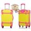 กระเป๋าเดินทางวินเทจ รุ่น colorful เหลืองคาดชมพู ขนาด 22 นิ้ว thumbnail 2