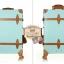 กระเป๋าเดินทางล้อลากวินเทจ รุ่น vintage retro สี Blue เซ็ตคู่ ขนาด 12+24 นิ้ว thumbnail 11