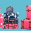 กระเป๋าเดินทางวินเทจ รุ่น vintage retro แดงคาดน้ำตาล ขนาด เซ็ตคู่ ขนาด 12+24 นิ้ว thumbnail 10