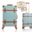 กระเป๋าเดินทางล้อลากวินเทจ รุ่น vintage retro สี Blue เซ็ตคู่ ขนาด 12+24 นิ้ว thumbnail 17