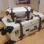 กระเป๋าเดินทางวินเทจ รุ่น retro brown ขาวคาดน้ำตาล ขนาด 26 นิ้ว thumbnail 3