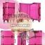 กระเป๋าเดินทางวินเทจ รุ่น spring colorful ชมพูคาดน้ำตาล ขนาด 22 นิ้ว thumbnail 1
