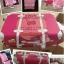 กระเป๋าเดินทางวินเทจ รุ่น spring colorful ชมพูเชอร์เบทคาดน้ำตาล ขนาด 22 นิ้ว thumbnail 5
