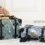 กระเป๋าเดินทางวินเทจ รุ่น เรโทรยีนส์ สีฟ้าขาว thumbnail 5
